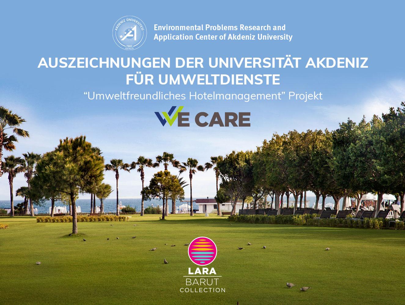 """Lara Barut Collection hat die Auszeichnung """"Umweltfreundliches Hotelmanagement"""" erhalten."""