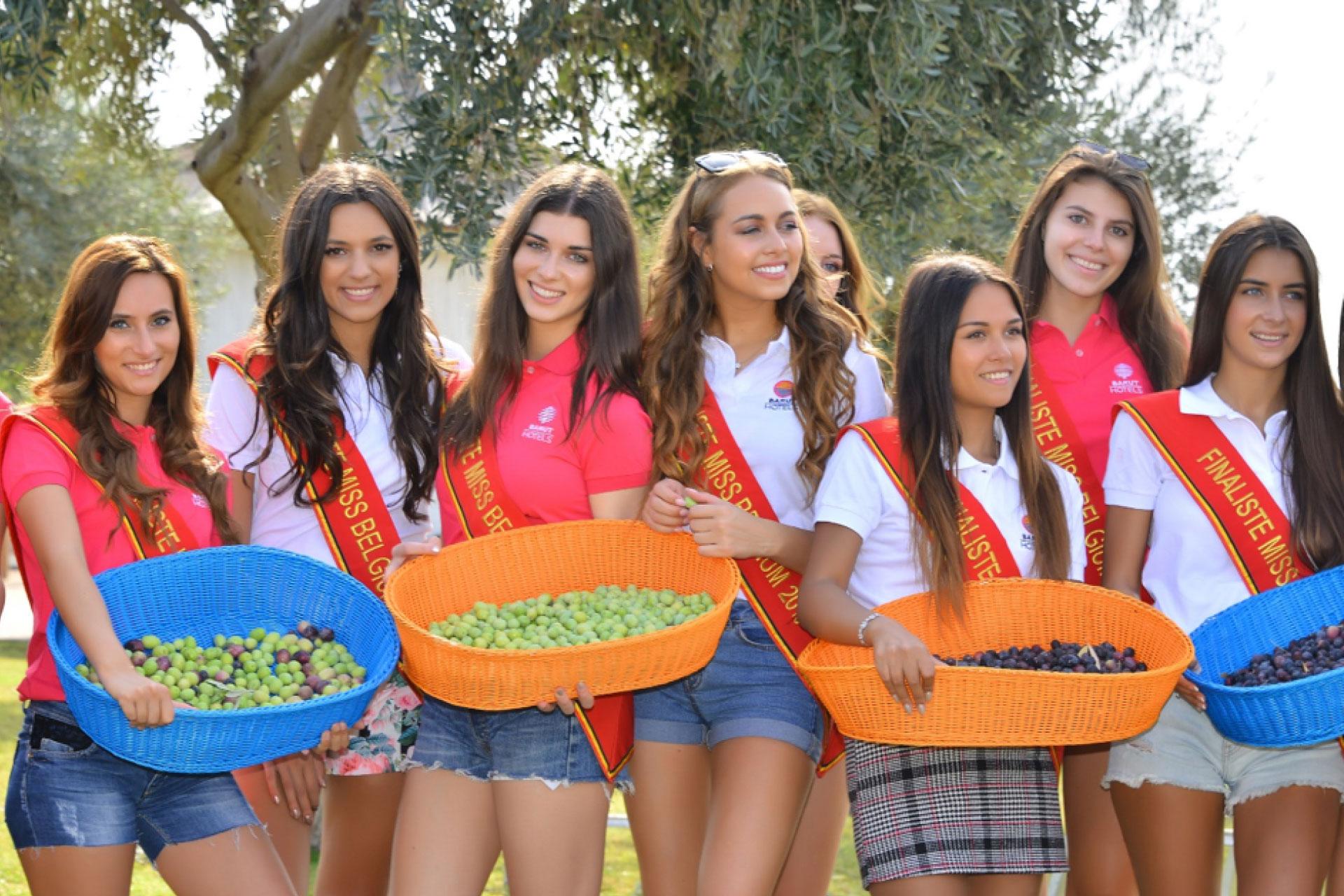 Miss Belgium finalists in Antalya